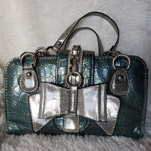 Faux Crocodile and a lot of bling Suzie Lee Purse